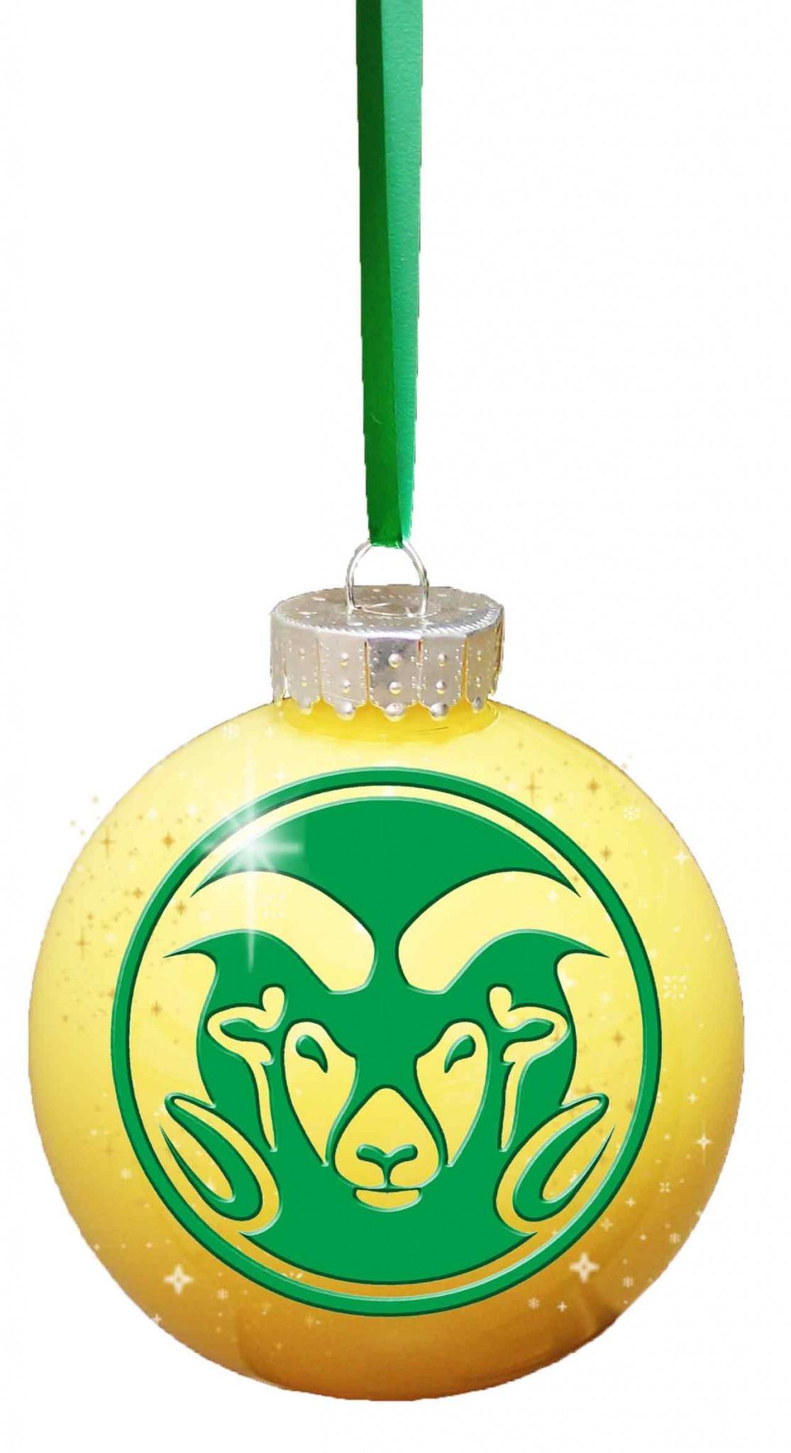 CSU logo imposed on a yellow ornament graphic Illustration by Ricki Watkins.