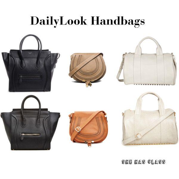 0d9e6130054a Below are some handbags on DailyLook.com and that look exactly like a few  designer handbags I ve had my eyes on. Céline Handbag