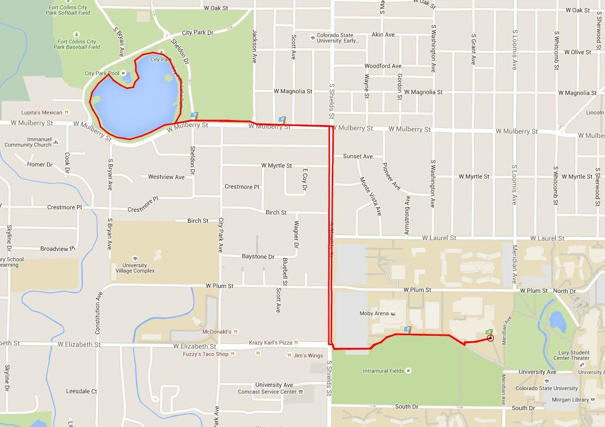 Top running routes on CSU campus - The Rocky Mountain Collegian