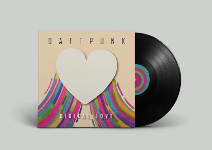 A cover for a vinyl record mockup by Elyssa Evans.