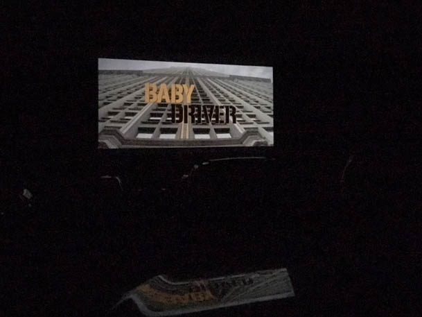 """""""Baby Driver"""" showed as the last movie of the drive-in season at Holiday Twin. (Ashley Potts 