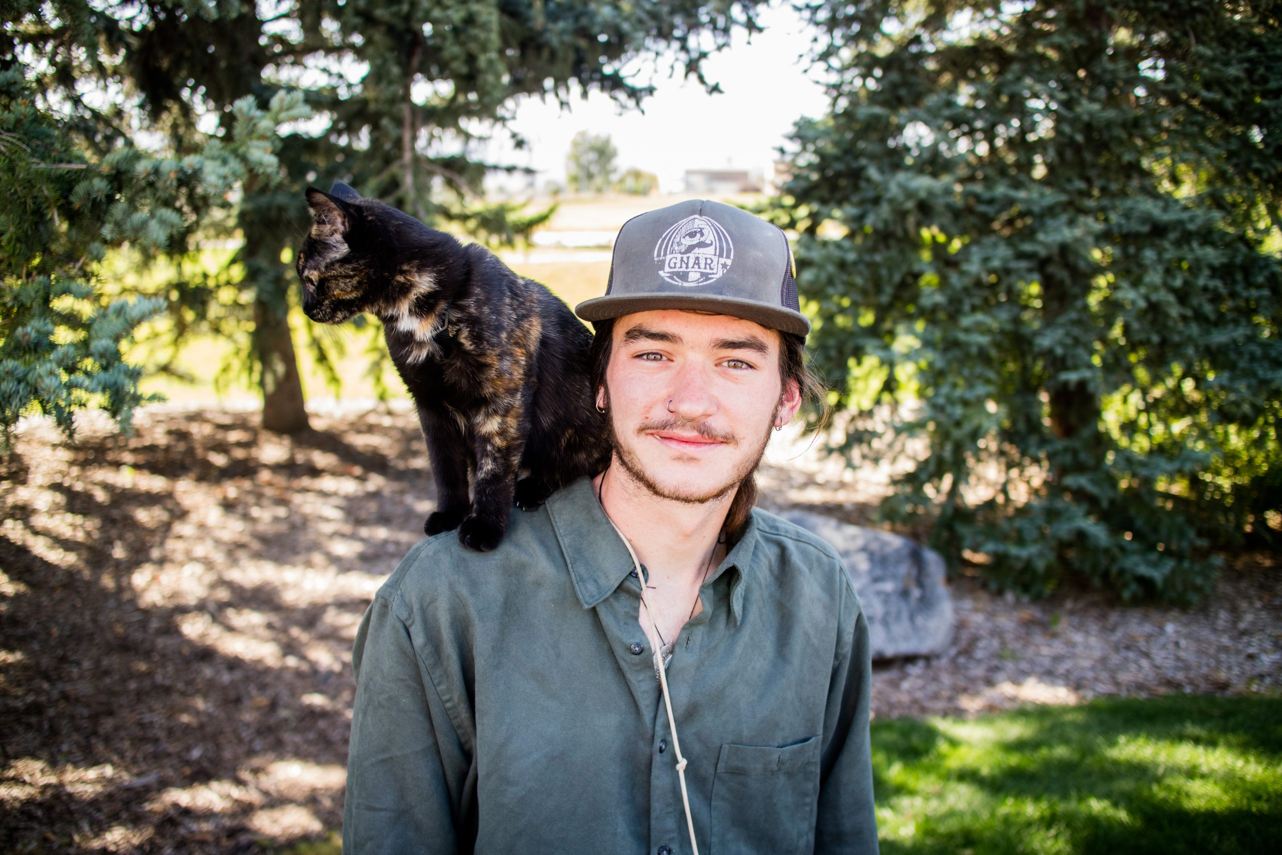 Firefighter returns to CSU, adopts cat