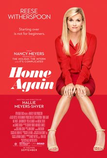 """Reese Witherspoon is featured in a striking red poster for """"Home Again."""""""
