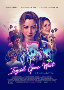 "Aubrey Plaza is juxtaposed against scenes of LA in ""Ingrid Goes West"""