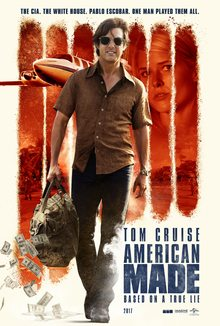 """Tom Cruise is featured on the poster for """"American Made"""""""