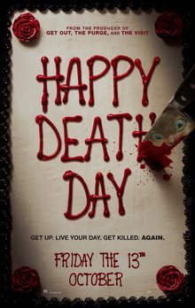 """Poster for the 2017 movie 'Happy Death Day"""""""