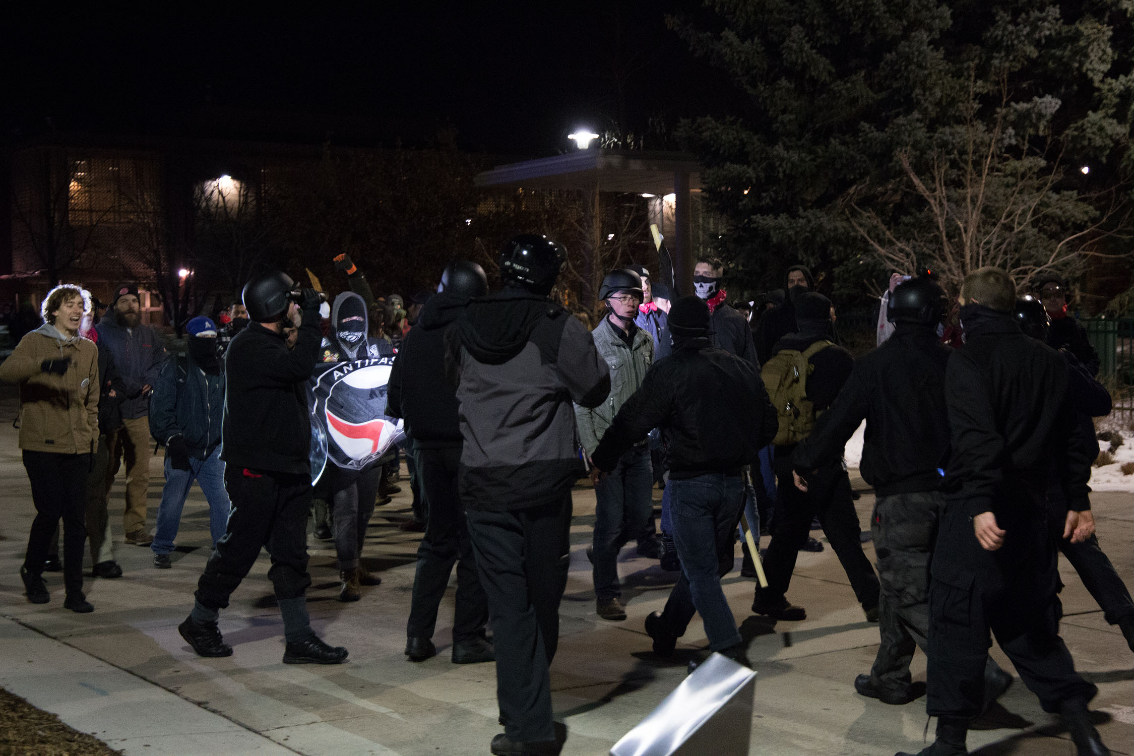 White nationalists clash with Antifa following Charlie Kirk