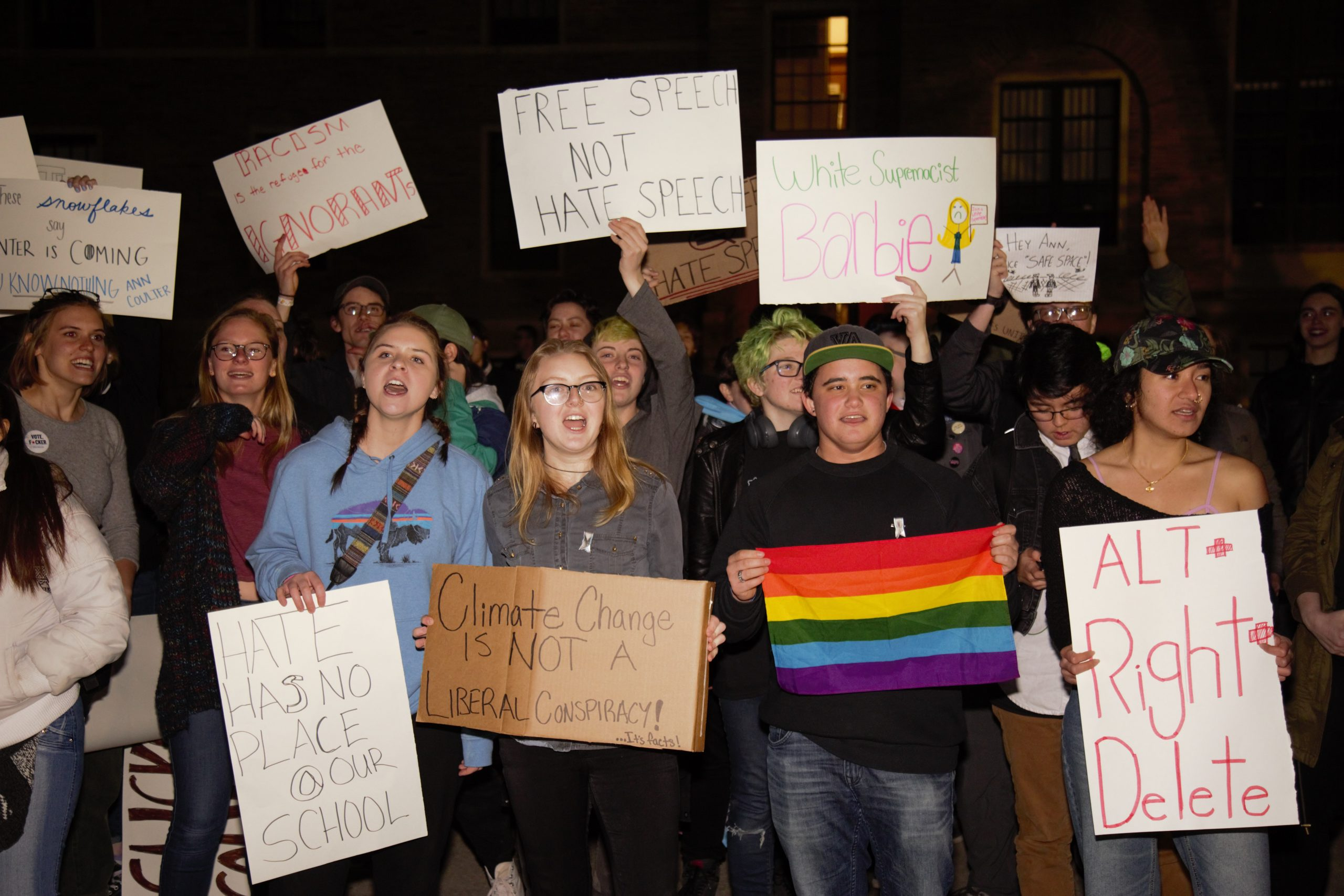 students protest, walk out of ann coulter event at cu boulder - the