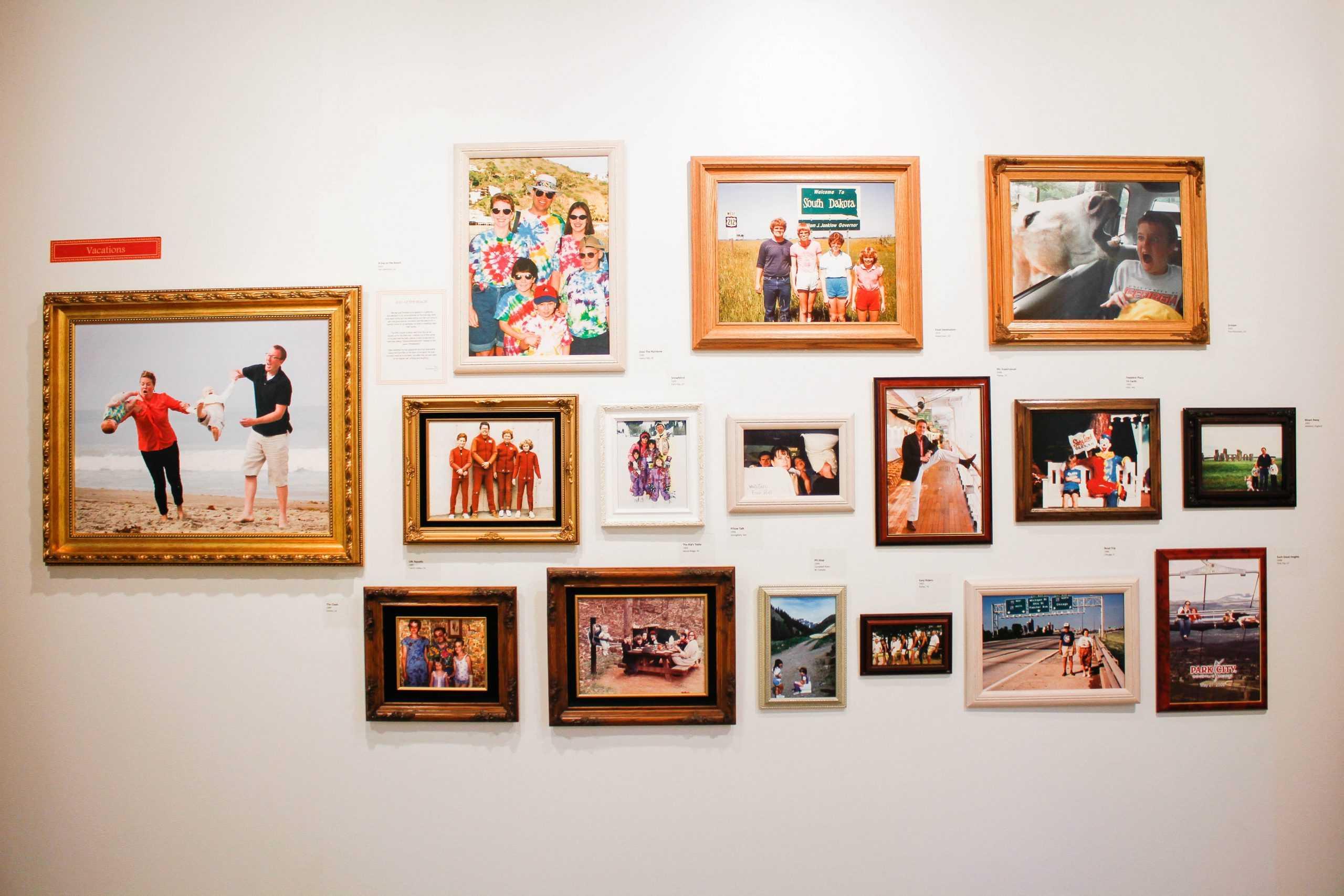 Awkward Family Photos Hang On A Gallery Wall