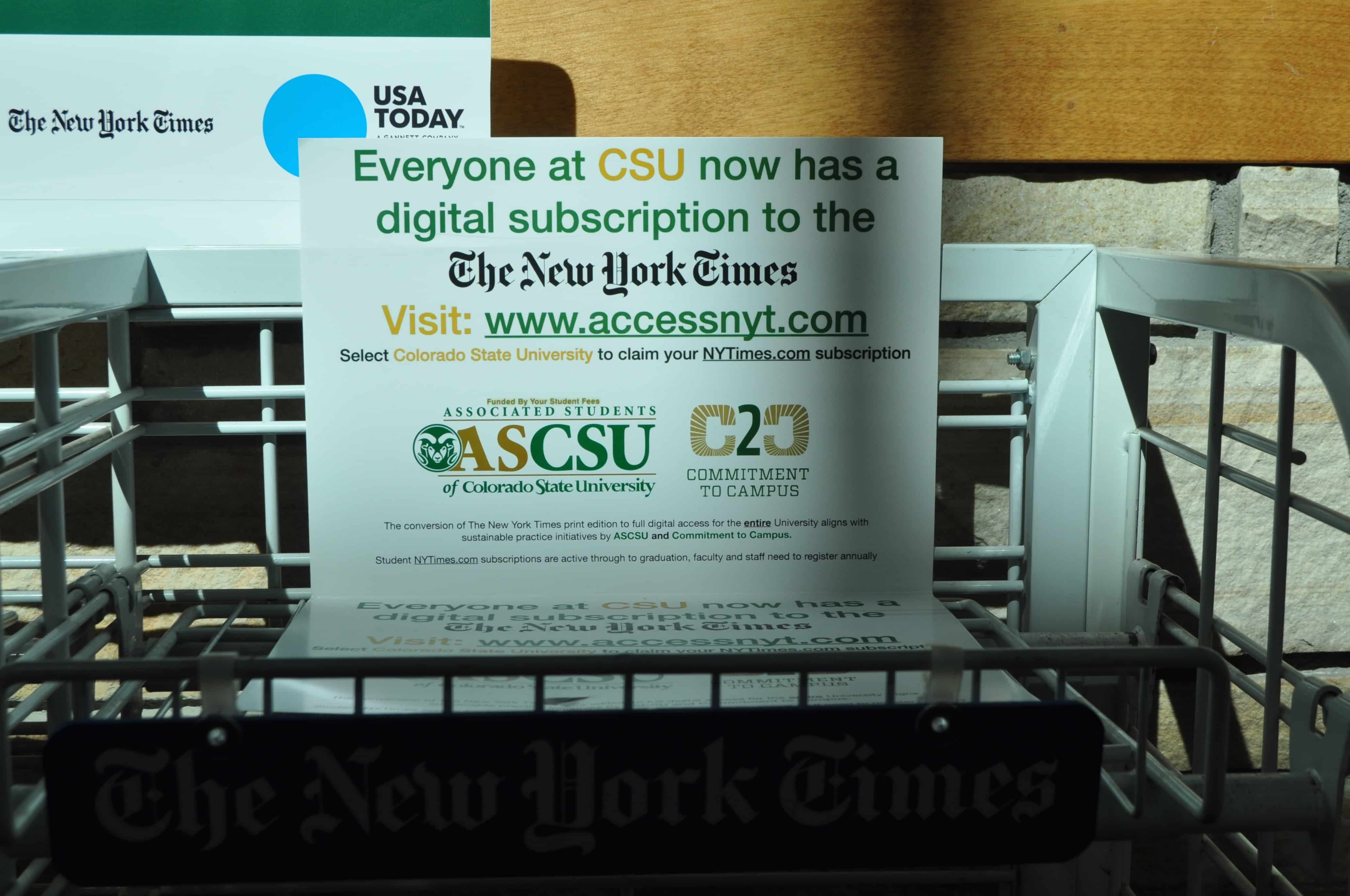 Ascsu Switches Nyt To Online Subscription For All Students Faculty The Rocky Mountain Collegian