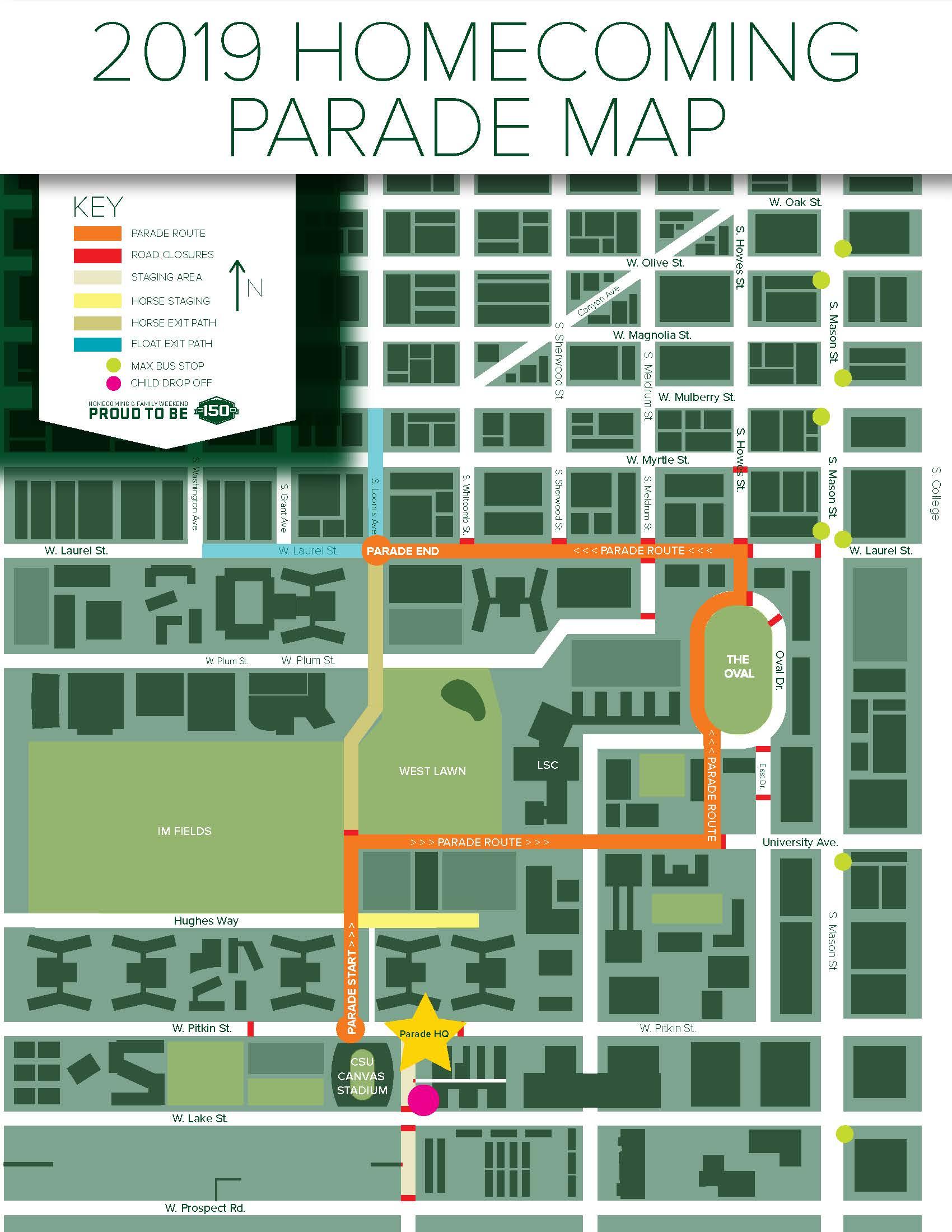 Parade route for 2019 CSU Homecoming Parade - The Rocky ...