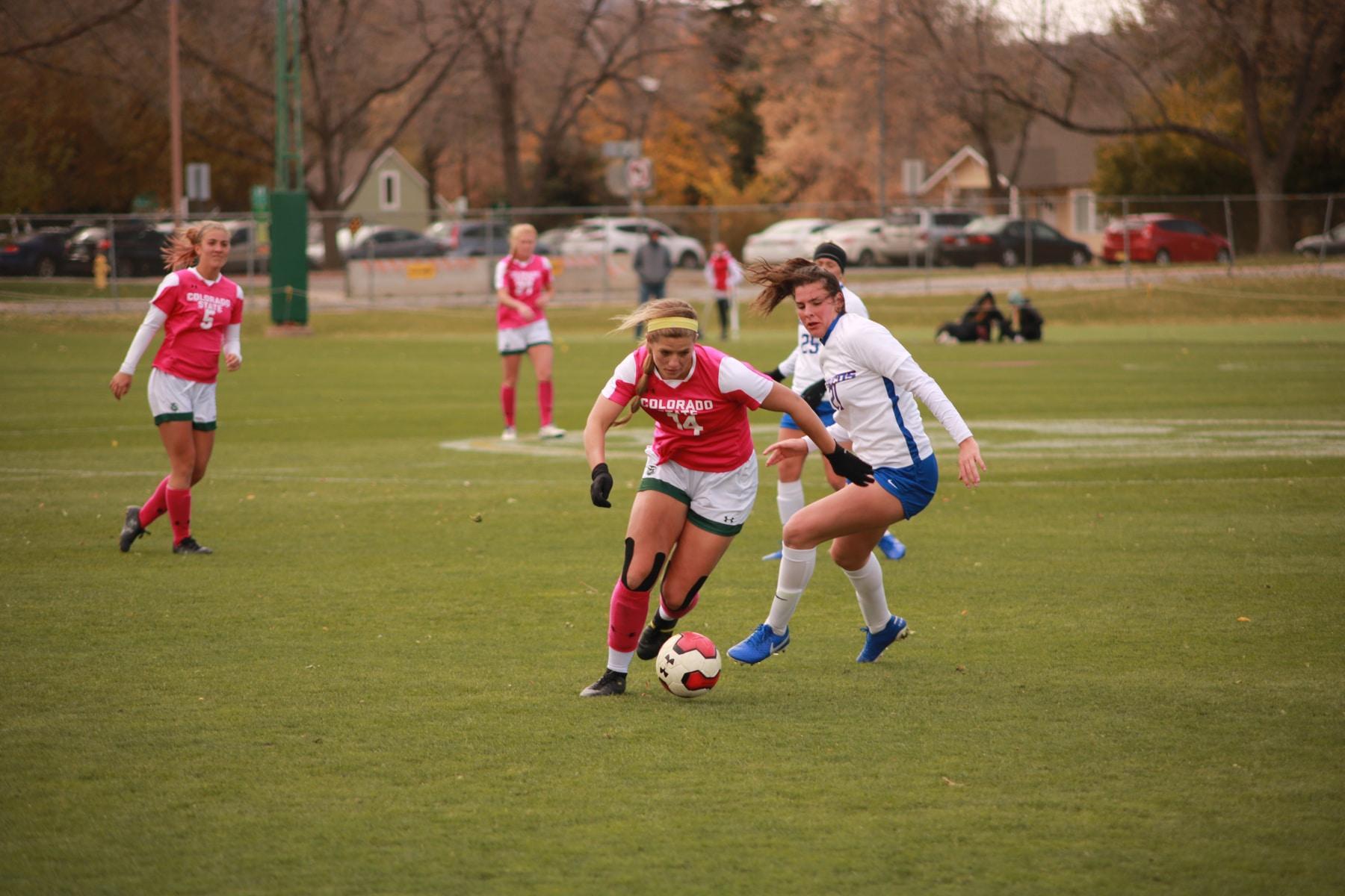CSU soccer splits two games in windy weekend series